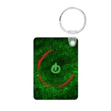 red ring of death poster Keychains