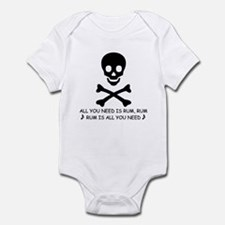 ALL YOU NEED IS RUM Infant Bodysuit