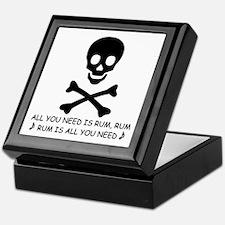 ALL YOU NEED IS RUM Keepsake Box
