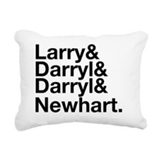 LDDN-black Rectangular Canvas Pillow