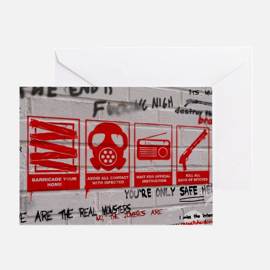 zombie apocalypse poster Greeting Card
