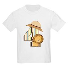 4th Birthday Safari Jungle T-Shirt