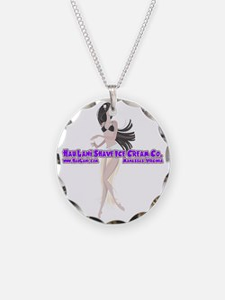 Hula Girl Purple Necklace