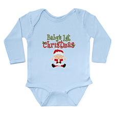 1st Christmas Baby Santa Long Sleeve Infant Bodysu