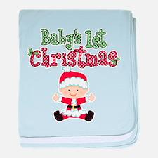 1st Christmas Baby Santa baby blanket