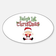 1st Christmas Baby Santa Decal