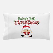 1st Christmas Baby Santa Pillow Case