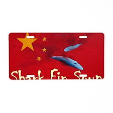 shark-fin-soup-t-shirt2 Aluminum License Plate