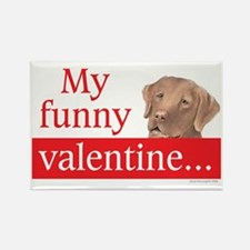 my funny lab valentine Rectangle Magnet
