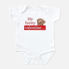 my funny lab valentine Infant Bodysuit