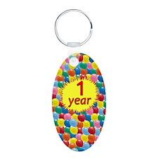card balloons1 Aluminum Oval Keychain
