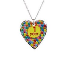 card balloons1 Necklace Heart Charm