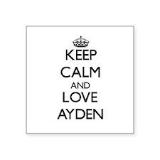 Keep Calm and Love Ayden Sticker