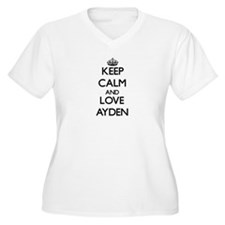 Keep Calm and Love Ayden Plus Size T-Shirt