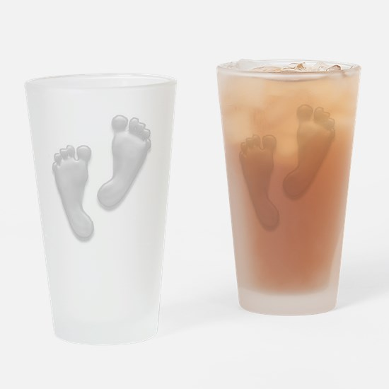 Baby Feet in White Drinking Glass