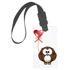 Valentine-Owl Luggage Tag