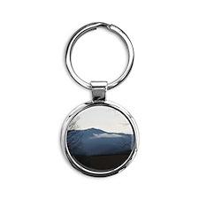 Smoky Mountains Round Keychain
