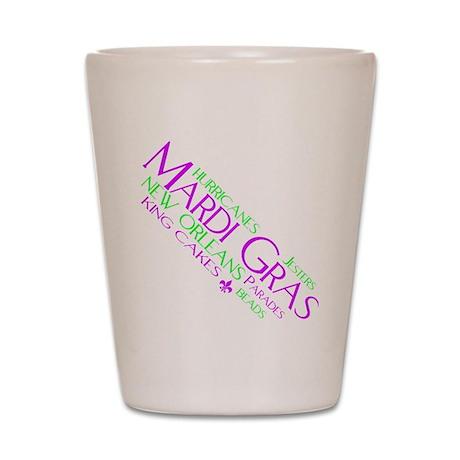 MARDI GRAS FUN Shot Glass