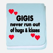 GIGIS NEVER RUN OUT OF HUGS KISSES baby blanket