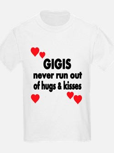 GIGIS NEVER RUN OUT OF HUGS KISSES T-Shirt