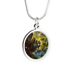Star Herd Silver Round Necklace