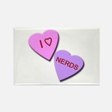 I Heart Nerds Rectangle Magnet