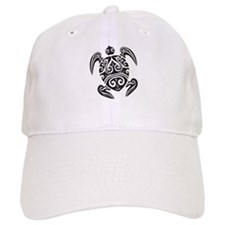 Tribal Sea Turtle Baseball Baseball Cap