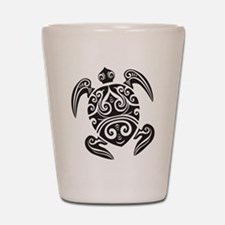 Tribal Sea Turtle Shot Glass