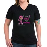 Breast cancer awareness Womens V-Neck T-shirts (Dark)