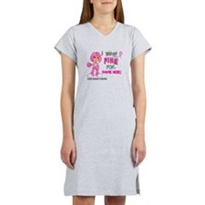Personalized Breast Cancer Custom Women's Nightshi