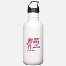 Personalized Breast Cancer Custom Water Bottle