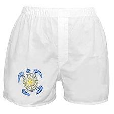 Tribal Sea Turtle Boxer Shorts
