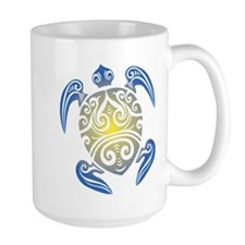 Tribal Sea Turtle Mugs