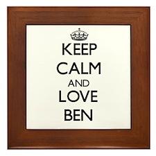 Keep Calm and Love Ben Framed Tile