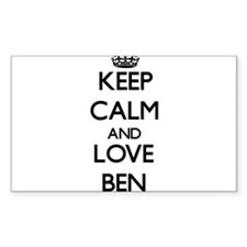 Keep Calm and Love Ben Decal