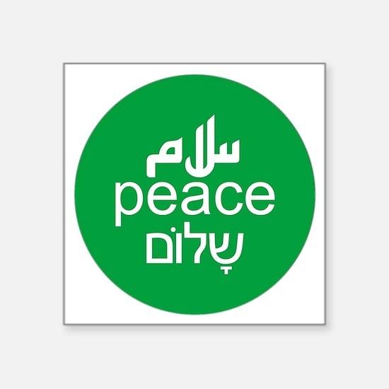 "peace-3lang Square Sticker 3"" x 3"""