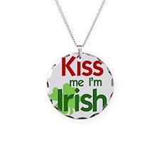 Kiss Me Im Irish (2) Necklace Circle Charm