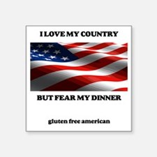 "gf american shirt Square Sticker 3"" x 3"""