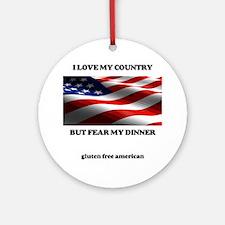 gf american shirt Round Ornament
