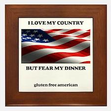 gf american shirt Framed Tile