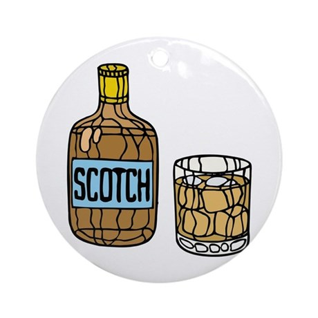 Scotch On The Rocks Ornament (Round)