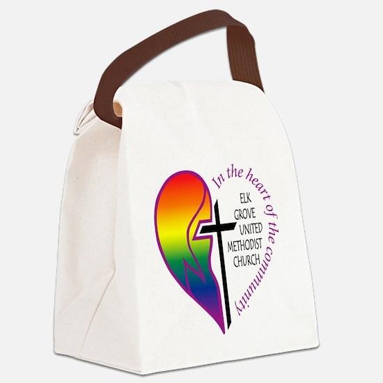 EGUMC logo rainbow2 Canvas Lunch Bag