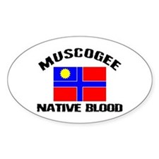 Muscogee Native Blood Oval Decal