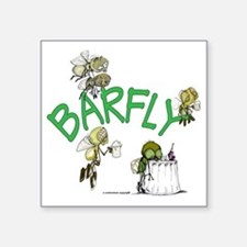 "Barfly group Square Sticker 3"" x 3"""