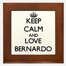 Keep Calm and Love Bernardo Framed Tile