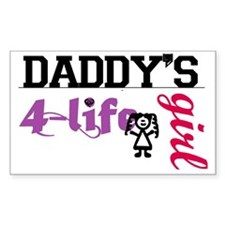 daddy's girl 4 life Bumper Stickers