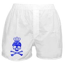 8x10_apparelskullblue Boxer Shorts