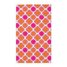 Quatrefoil Pattern Orange and Hot Pink 3'x5' Area