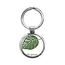 be green Round Keychain