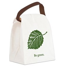 be green Canvas Lunch Bag